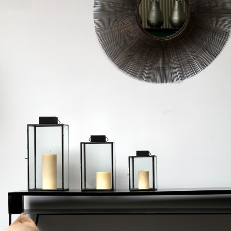 Aladin - Lanterne en acier brut