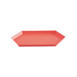 PLATEAU KALEIDO - M (33.5 X 19.5 ) - RED