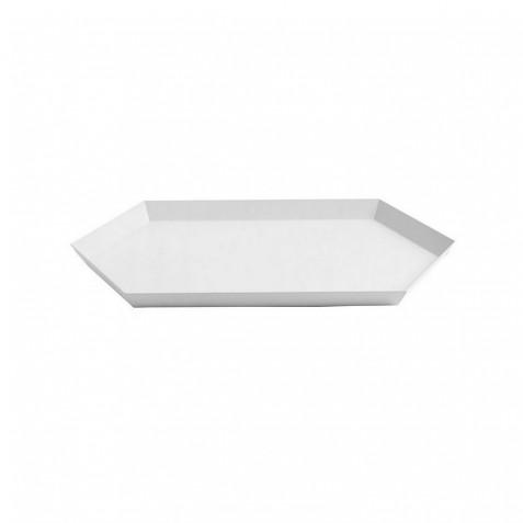 PLATEAU KALEIDO - M (33.5 X 19.5 ) - WHITE