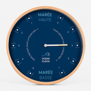 HORLOGE MAREE Diam 31cm - STORM Cadran Français