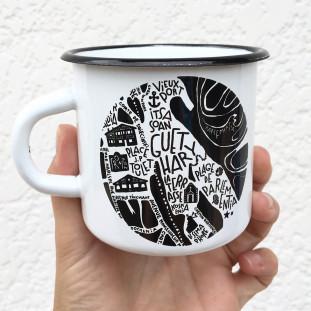 Mug Emaillée 25cl