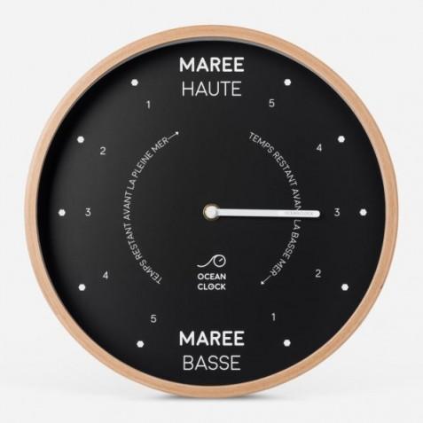 HORLOGE MAREE Diam 31cm - BLACK Cadran Français