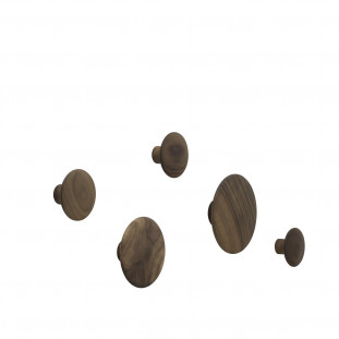 Dots Pack de 5 Walnut