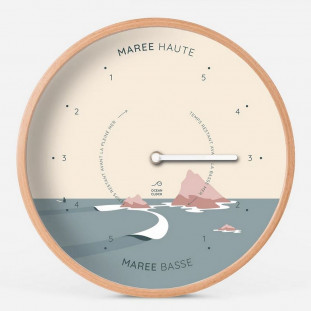 HORLOGE MAREE Diam 31cm - SUNSET Cadran Français